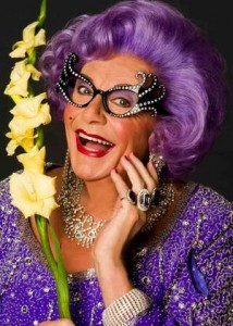 Dame Edna Everage (photo by Greg Goman)